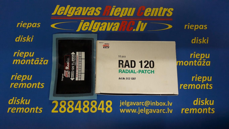Ielāps riepai 120 TL (125 x 80 mm)